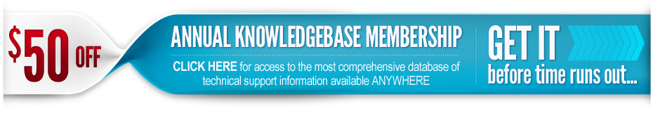 Save $50 on annual knowledgebase membership