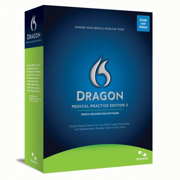 Dragon Medical Practice Edition 2 box