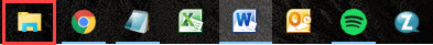 file explorer icon on Windows taskbar