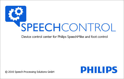 Philips SpeechControl splash screen