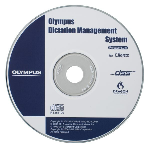 Olympus Dictation Management System R6 software installation disc