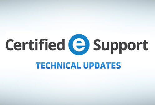 Certified eSupport technical update banner