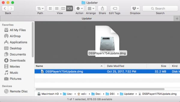 DSS Player for Mac Installation DMG
