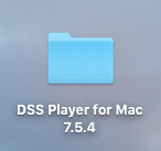DSS Player for Mac Installation Files