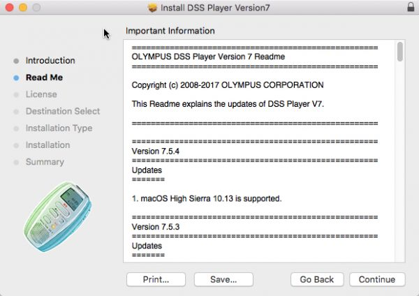 DSS Player for Mac release notes