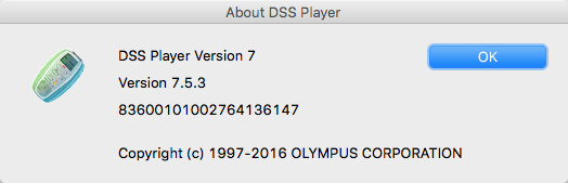 DSS Player for Mac Version Number