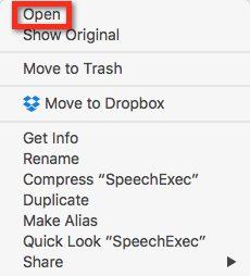 Mac control click open menu